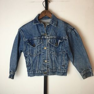 Vtg 80s Levis 900 Series Denim Jacket Girls M USA